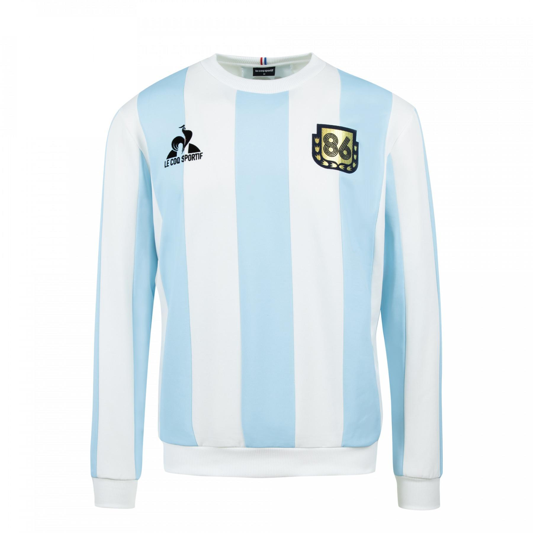 "Sweatshirt Le coq sportif retro Argentine 1986 Collection Legends ""Maradona"""