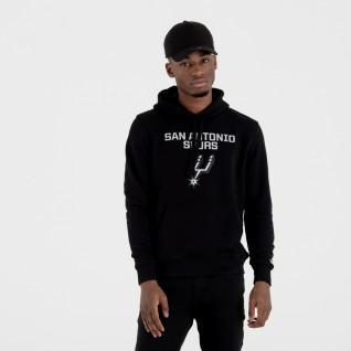 Sweat à capuche New Era avec logo de l'équipe San Antonio Spurs