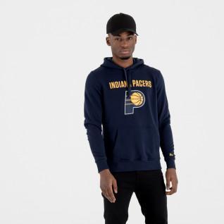 Sweat à capuche New Era avec logo de l'équipe Indiana Pacers