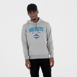 Sweat à capuche New Era avec logo de l'équipe Charlotte Hornets
