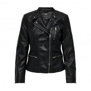 Veste femme Only Freya imitation cuir biker