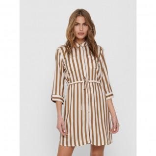 Robe chemise femme Only Tamari manches 3/4