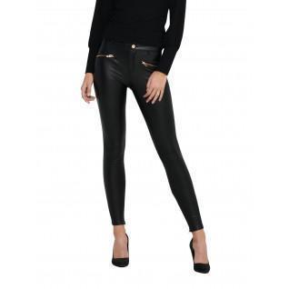 Pantalon skinny femme Only Henrietta simili cuir