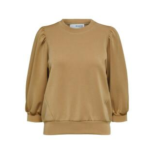 Sweatshirt 3/4 femme Selected Tenny