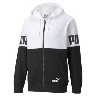 Sweatshirt Full-zip Puma Power Colorblock