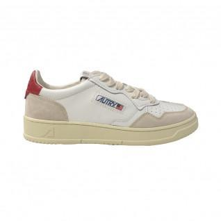 Baskets Autry Medalist LS29 Leather/Suede White/Red