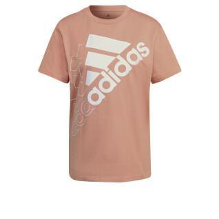 T-shirt femme adidas Brand Love Slanted Logo Boyfriend