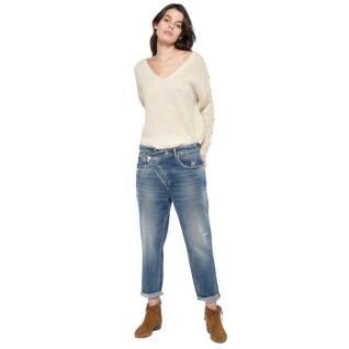 Pantalon Jeans boyfit femme Le temps des cerises Cosy