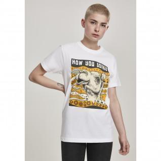 T-shirt femme Mister Tee camel