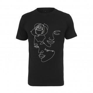 T-shirt femme Mister Tee one line rose