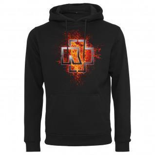 Sweatshirt à capuche Rammstein rammstein lava logo
