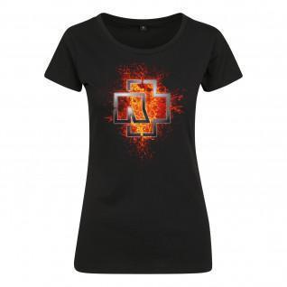 T-shirt Rammstein rammstein femme lava logo