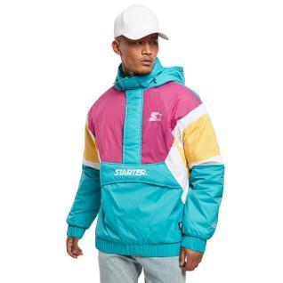Veste Urban Classics starter color block 1/2 zip retro