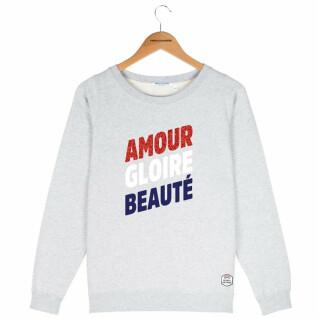 Sweatshirt col rond femme French Disorder Amour gloire beauté