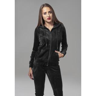 Sweatshirt femme Urban Classic velvet zip
