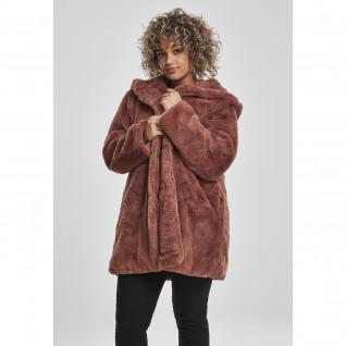 Parka femme Urban Classic hooded teddy coat