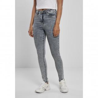 Pantalon jeans femme Urban Classics high waist skinny