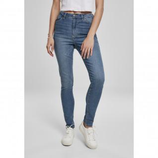 Pantalon jeans femme Urban Classics high waist slim