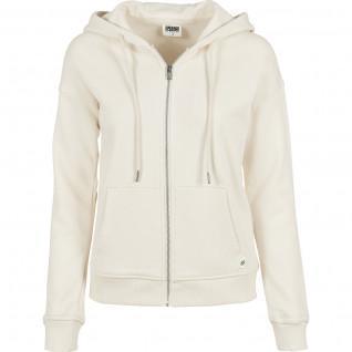 Sweatshirt femme Urban Classics organic terry zip-grandes tailles