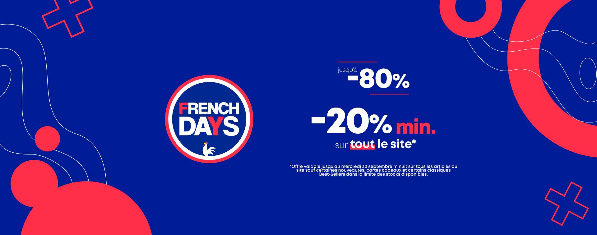 French Days : Jusqu'à -80%